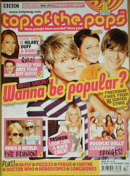 Top Of The Pops magazine - Wanna Be Popular cover (1-28 November 2006)
