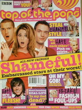 <!--2006-03-22-->Top Of The Pops magazine - Embarrassed Stars cover (22 Mar
