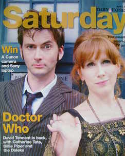 Saturday magazine - David Tennant and Catherine Tate cover (5 April 2008)
