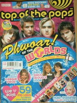 <!--2005-08-11-->Top Of The Pops magazine - McFly cover (11-30 August 2005)