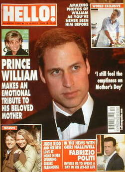 <!--2009-03-24-->Hello! magazine - Prince William cover (24 March 2009 - Is