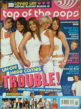 <!--2004-06-->Top Of The Pops magazine - Girls Aloud cover (June 2004)