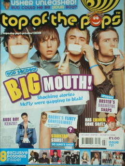 <!--2005-03-01-->Top Of The Pops magazine - McFly cover (1 March-28 March 2