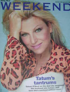 Weekend magazine - Tatum O'Neal cover (24 September 2005)