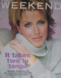 Weekend magazine - Natasha Kaplinsky cover (23 October 2004)