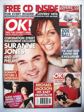 <!--2003-02-18-->OK! magazine - Suranne Jones and Jim Phelan cover (18 Febr