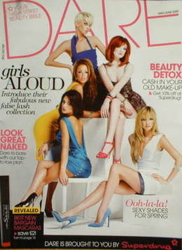 <!--2009-05-->Dare magazine - Girls Aloud cover (May/June 2009)