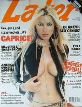 Later magazine - Caprice Bourret cover (December 2000)