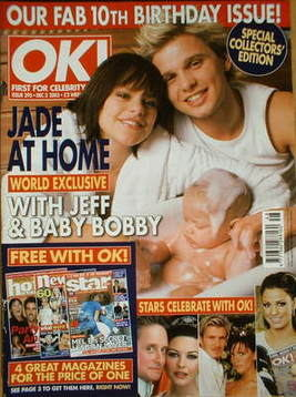 <!--2003-12-02-->OK! magazine - Jade Goody and Jeff Brazier and Bobby cover