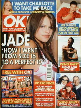 <!--2004-01-06-->OK! magazine - Jade Goody cover (6 January 2004 - Issue 39