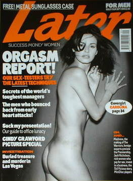 Later magazine - Carolina Parson cover (September 1999)
