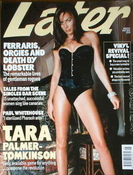 Later magazine - Tara Palmer-Tomkinson cover (May 2001)