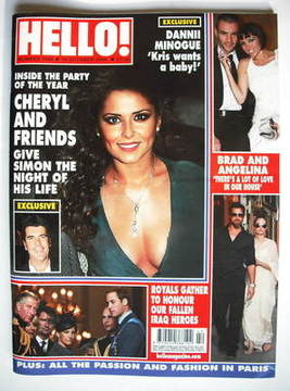 <!--2009-10-19-->Hello! magazine - Cheryl Cole cover (19 October 2009 - Iss