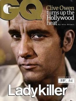 <!--2009-04-->British GQ magazine - April 2009 - Clive Owen cover