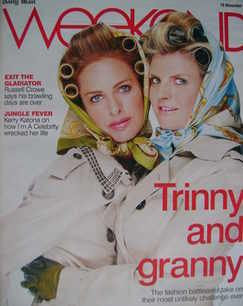 <!--2007-11-10-->Weekend magazine - Trinny Woodall and Susannah Constantine cover (10 November 2007)
