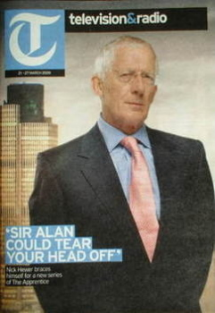 Television&Radio magazine - Nick Hewer cover (21 March 2009)