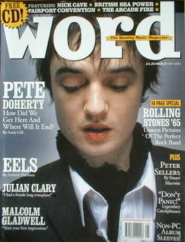 The Word magazine - Pete Doherty cover (May 2005)