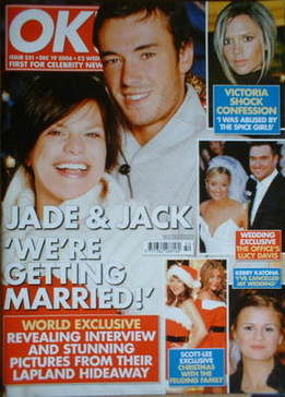 <!--2006-12-19-->OK! magazine - Jade Goody and Jack Tweed cover (19 Decembe