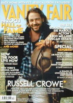 Vanity Fair magazine - Russell Crowe cover (December 2003)