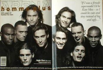 Arena Homme Plus magazine (Autumn/Winter 1994 - Issue 2 - Marcus Schenkenberg, Tyson Beckford, Tim Boyce, Gregg Spaulding and Larry Scot