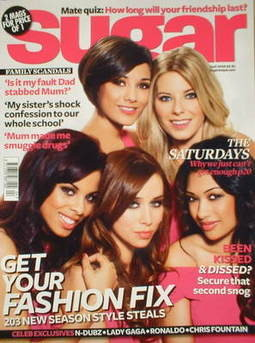 <!--2009-04-->Sugar magazine - The Saturdays cover (April 2009)