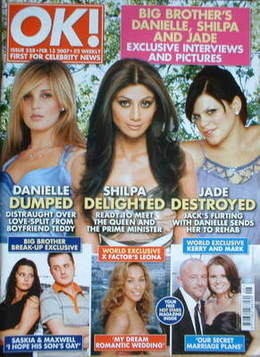 <!--2007-02-13-->OK! magazine - Jade Goody and Shilpa Shetty and Danielle L