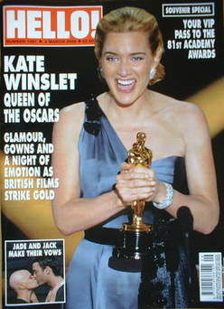 <!--2009-03-03-->Hello! magazine - Kate Winslet cover (3 March 2009 - Issue