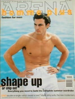 Arena Homme Plus magazine (Spring/Summer 1995 - Issue 3 - Stan Nelson cover)