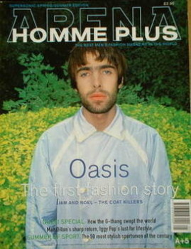 Arena Homme Plus magazine (Spring/Summer 1996 - Issue 5 - Liam Gallagher cover)