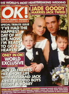 <!--2009-03-03-->OK! magazine - Jade Goody and Jack Tweed wedding cover (3