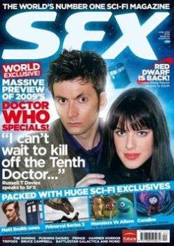 SFX magazine - David Tennant and Michelle Ryan cover (April 2009)
