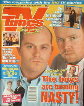 <!--1996-02-24-->TV Times magazine - Ross Kemp and Steve McFadden cover (24