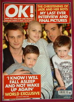 <!--2009-03-17-->OK! magazine - Jade Goody and Jack Tweed and Jeff Brazier