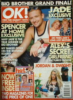 <!--2002-07-31-->OK! magazine - Spencer Smith cover (31 July 2002 - Issue 3