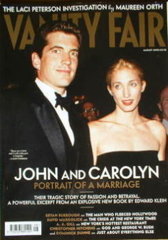 Vanity Fair magazine - John Kennedy Jr and Carolyn Bessette cover (August 2003)