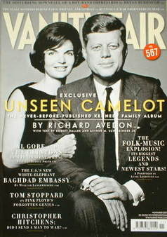 <!--2007-11-->Vanity Fair magazine - John F Kennedy and Jackie Kennedy cove