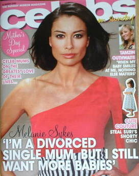 <!--2009-03-22-->Celebs magazine - Melanie Sykes cover (22 March 2009)