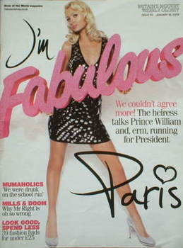<!--2009-01-18-->Fabulous magazine - Paris Hilton cover (18 January 2009)