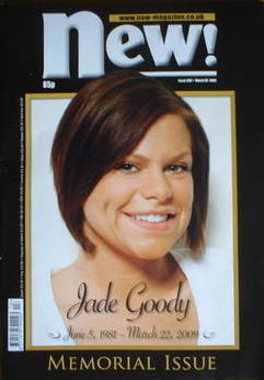 <!--2009-03-30-->New magazine - 30 March 2009 - Jade Goody cover