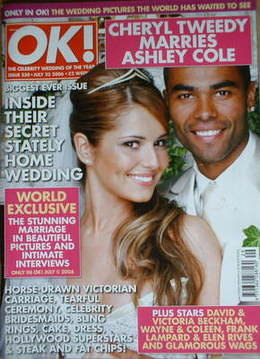 <!--2006-07-25-->OK! magazine - Cheryl Tweedy and Ashley Cole wedding cover