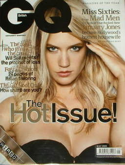 <!--2009-05-->British GQ magazine - May 2009 - January Jones cover