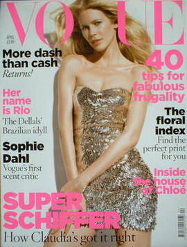 <!--2009-04-->British Vogue magazine - April 2009 - Claudia Schiffer cover