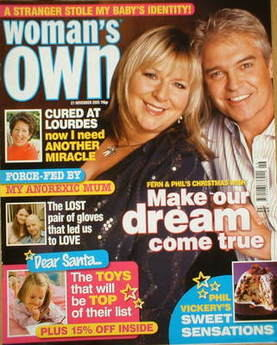 <!--2005-11-21-->Woman's Own magazine - 21 November 2005 - Fern Britton and