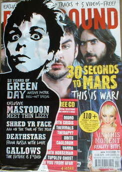 Rock Sound magazine - 30 Seconds To Mars cover (April 2009)