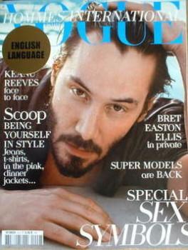<!--2009-04-->Paris Vogue Hommes International magazine - Spring/Summer 2009 - Keanu Reeves cover