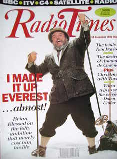 <!--1991-12-07-->Radio Times magazine - Brian Blessed cover (7-13 December