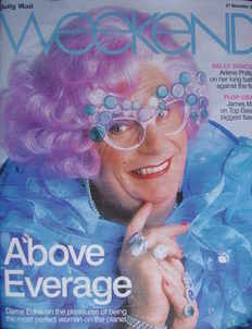 Weekend magazine - Dame Edna Everage (Barry Humphries) cover (27 December 2