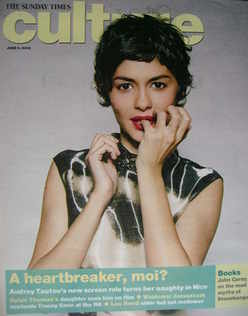 <!--2008-06-08-->Culture magazine - Audrey Tatou cover (8 June 2008)