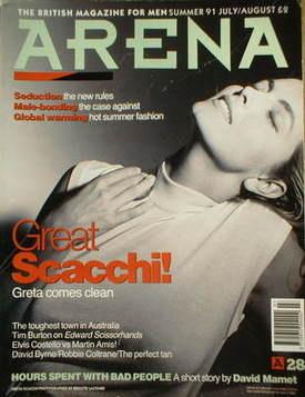 <!--1991-08-->Arena magazine - Summer 1991 - Greta Scacchi cover