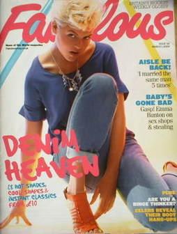 <!--2009-03-01-->Fabulous magazine - Denim Heaven cover (1 March 2009)